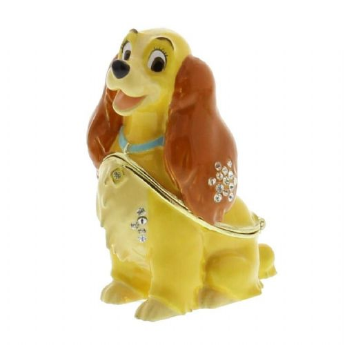Lady and the Tramp Disney Collectable Figure Trinket Box - Disney Gifts and Cake Toppers